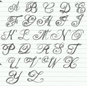 Ejemplos De Letras Goticas Lamaran L