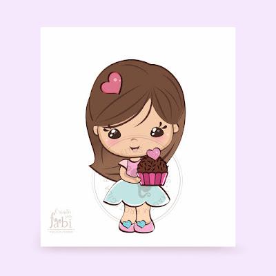 #mascote #bonequinha #logo #marca #doceria #personalizados #páscoa2019 #bolonopote #negociocriativo #bonecapersonalizada #cartãodevisitas #logomarca #etiqueta #docespersonalizados