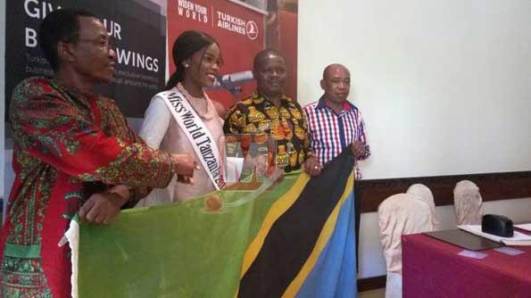 Miss Tanzania Akabidhiwa Bendera Kwenda Kuwakilisha Mashindano ya Miss World