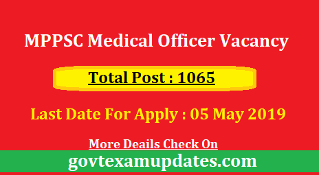 MPPSC Medical Officer Vacancy 2019