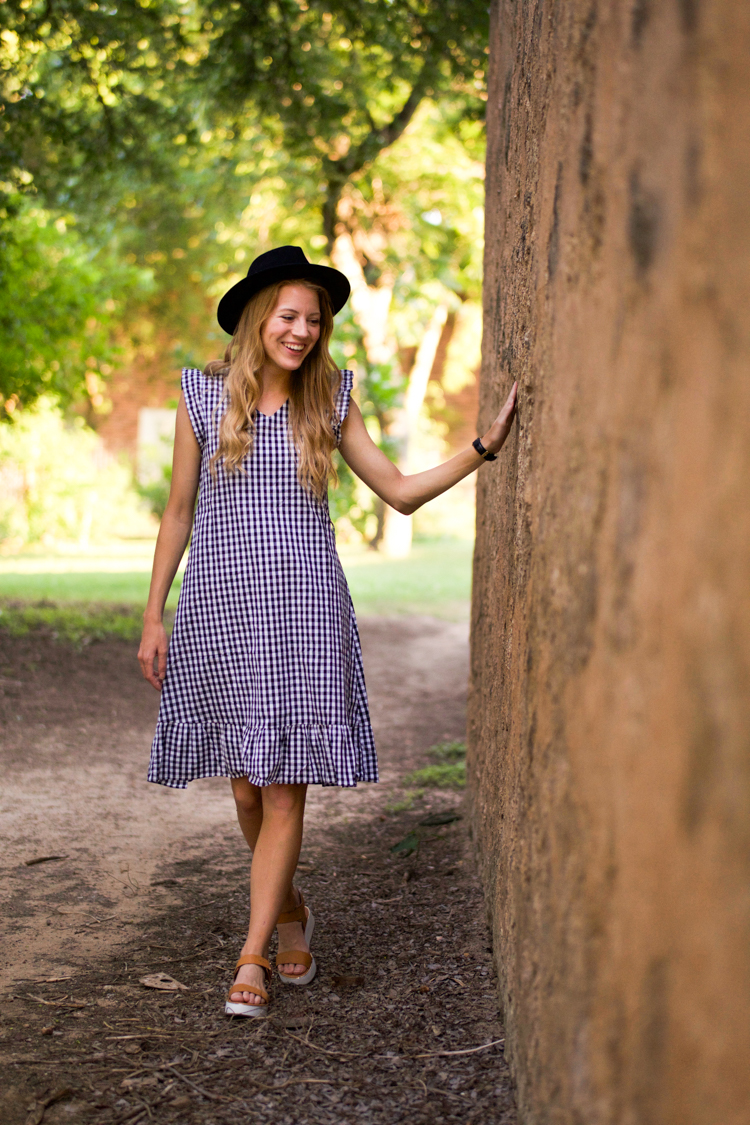 Affordable Gingham Dress