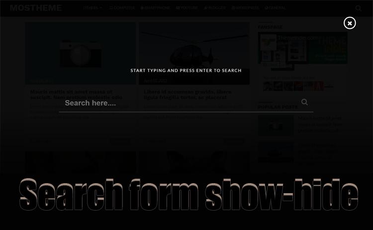 Cara Membuat Search Form Show-Hide Onclick Event Bersama Keyframes