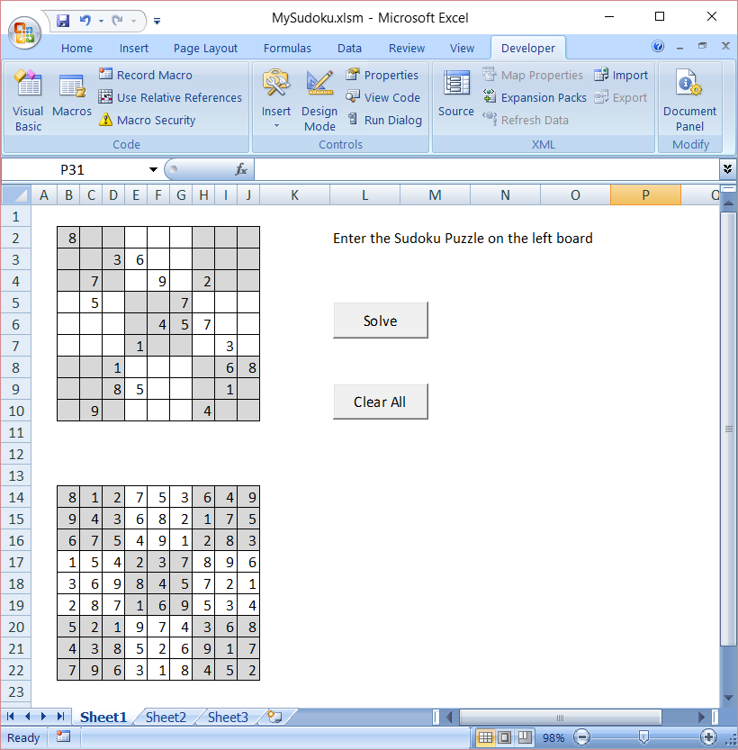 sudoku solver in excel vba boredom creek