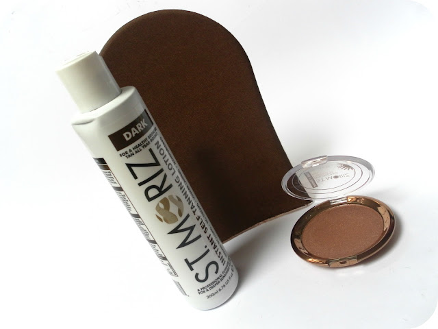 A picture of St. Moriz Tan Lotion & Bronzing Powder