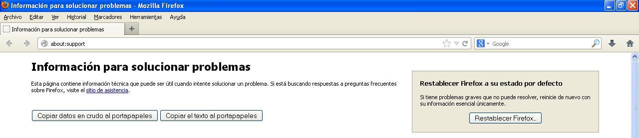 Vista previa opción Restaurar para Mozilla Firefox