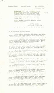 First page of State of the Union Address, 3 January 1940