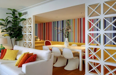Desain Interior Apartemen Penuh Warna