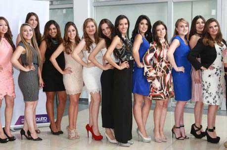 Candidatas a Reina de Quito 2016