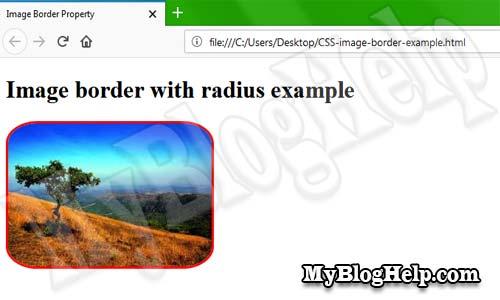 CSS image border