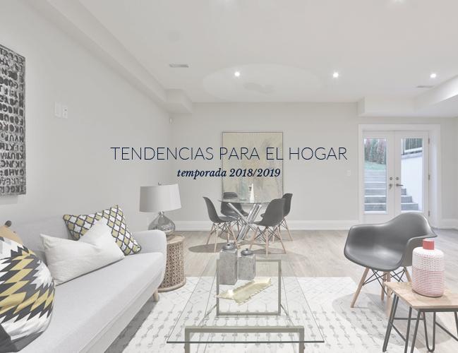 Tendencias para el hogar otoño 2018