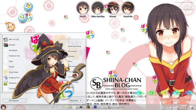 Windows 10 Ver. 1607 Theme Megumin KonoSuba! by Enji Riz