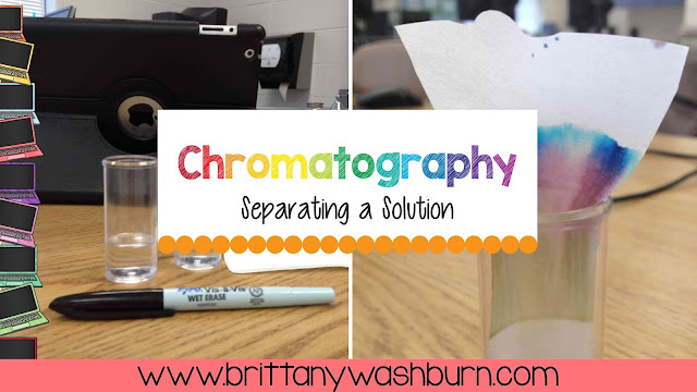 My students absolutely loved this experiment on Separating a Solution with Chromatography! The worksheets walk them through the steps so at the end we had to write conclusions. We had a bit of time left so I let several students share what they wrote and show their stopmotion videos. It was a hit!