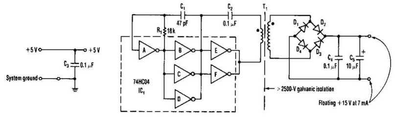 isolated 15v to 2500v power supply circuit diagram electronic circuits diagram. Black Bedroom Furniture Sets. Home Design Ideas