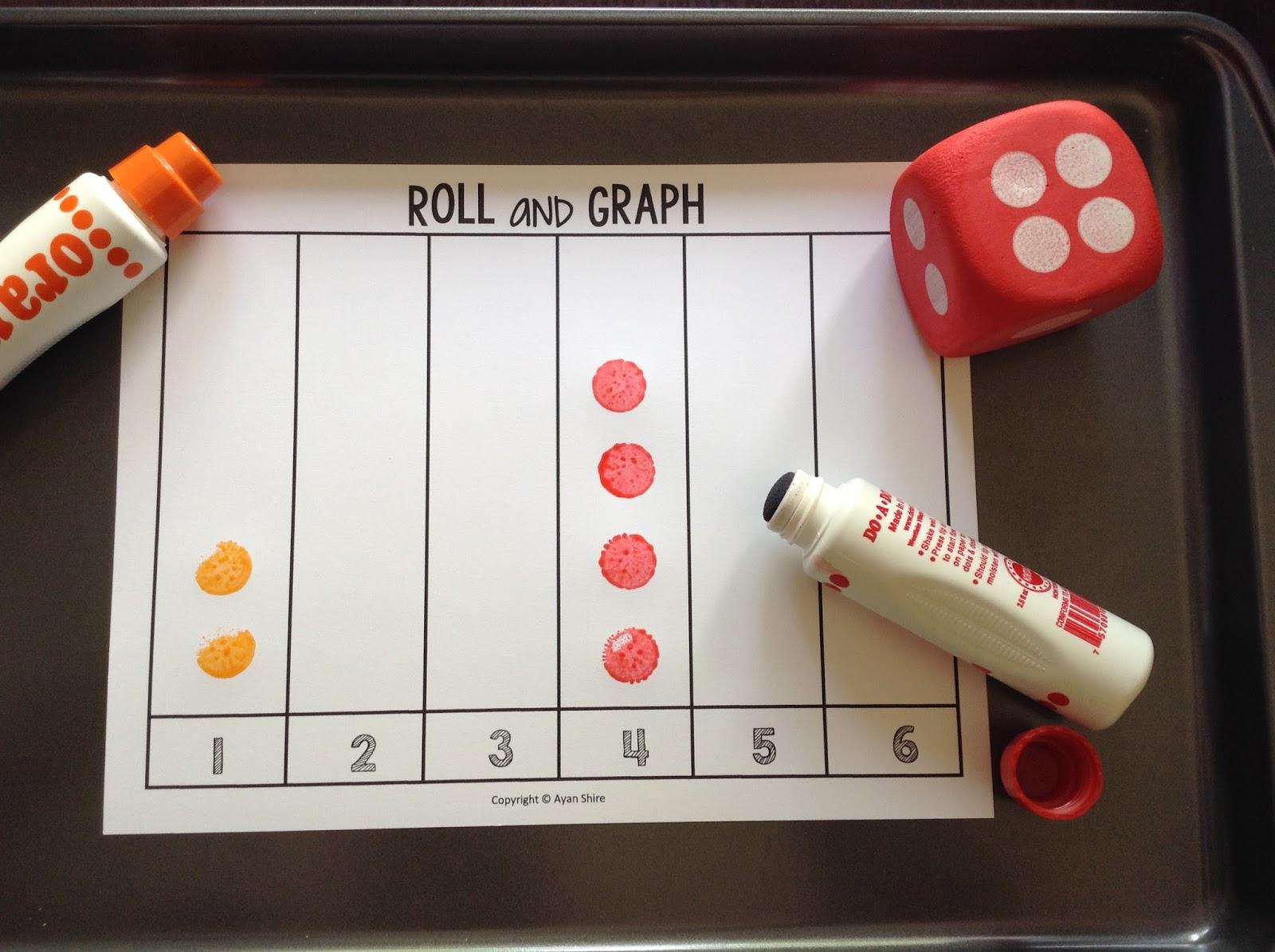 Teachermomplus3 6 Dice Activities For Preschoolers