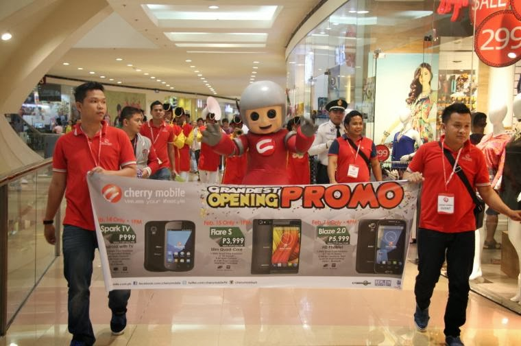 Cherry Mobile Newest Concept Store In SM North EDSA Mall Parade