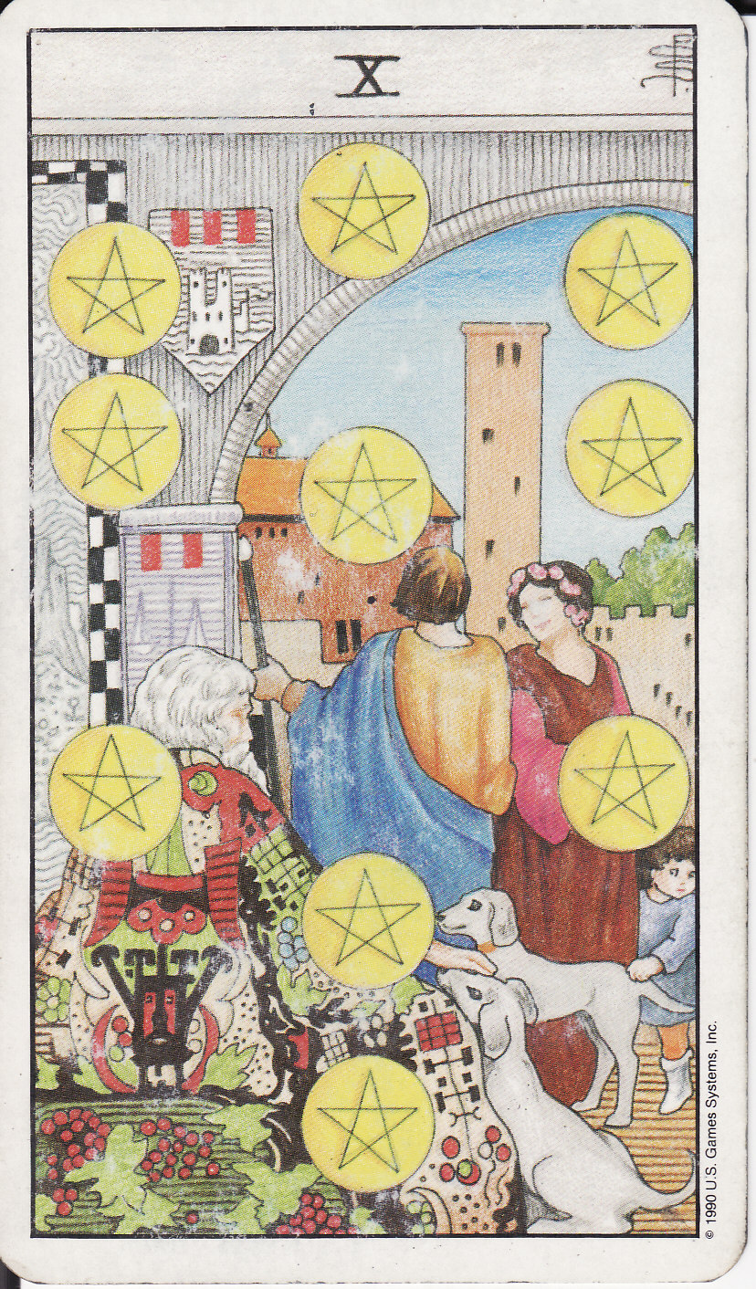 TAROT - The Royal Road: 10 TEN OF PENTACLES X