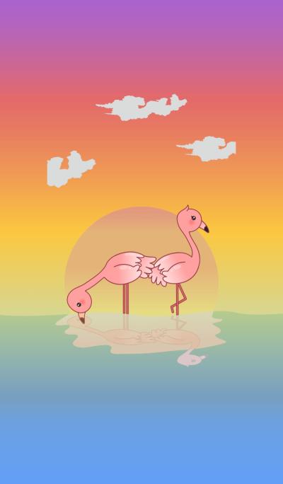 Warm and Fuzzy Flamingo Theme