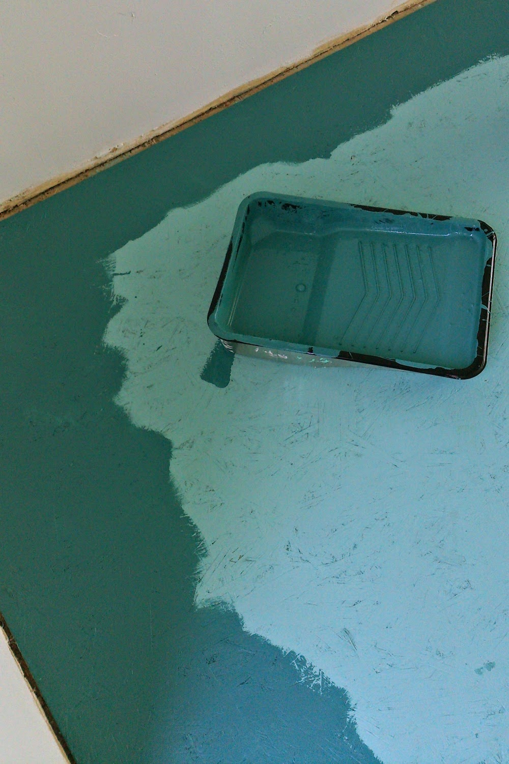 DIY Painted Particle Board Floors
