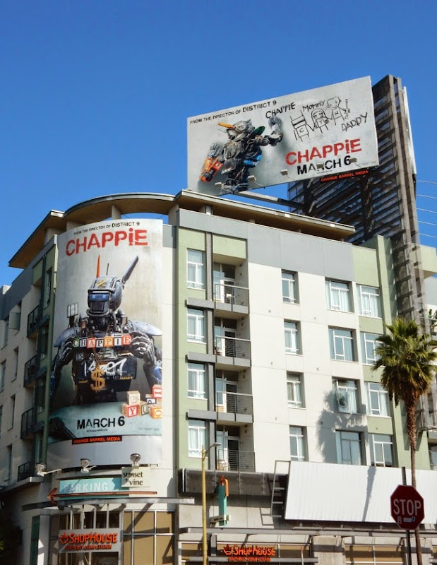 Chappie movie billboards