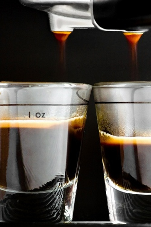 the perfect espressos under process