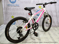 20 Inch Wimcylcle Roadtech S Rangka Aloi 7 Speed Junior Mountain Bike White/Pink