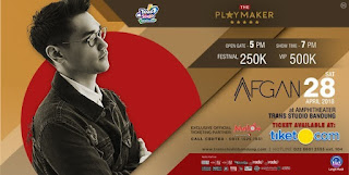 Cari tiket konser afgan di amphitheater the trans studio bandung