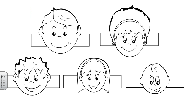 Free family finger puppets coloring pages