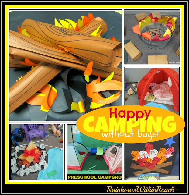 "photo of: ""Camping"" as a Learning Center, complete with campfires and tents"