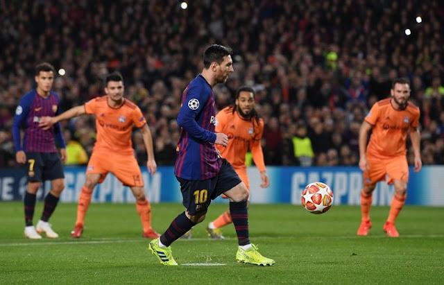 Lionel Messi FC Barcelona Vs Lyon