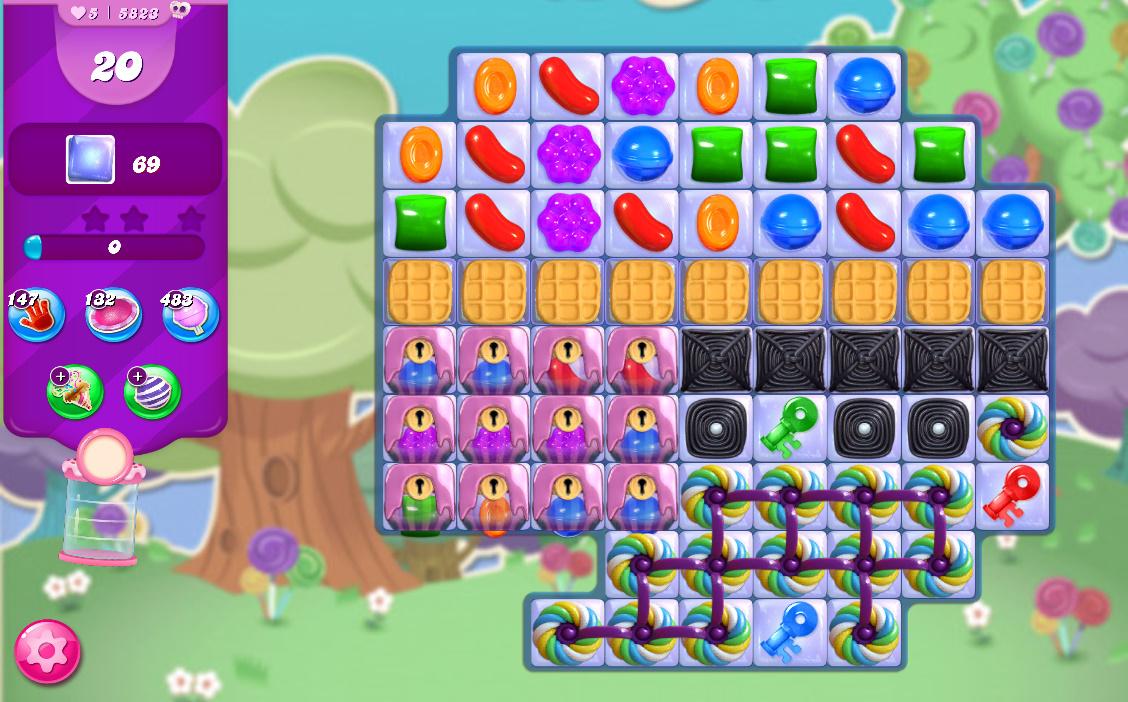Candy Crush Saga level 5823