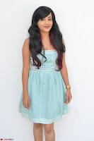 Sahana New cute Telugu Actress in Sky Blue Small Sleeveless Dress ~  Exclusive Galleries 009.jpg