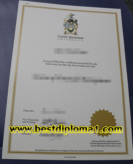 Buy CQU diploma