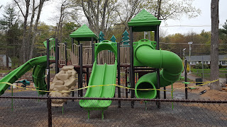 The playground equipment was replaced by the manufacturer at no cost to the Town