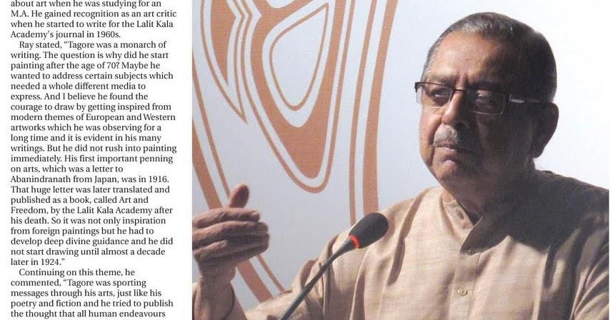 Pranab Ranjan Ray'S Tribute To Tagore