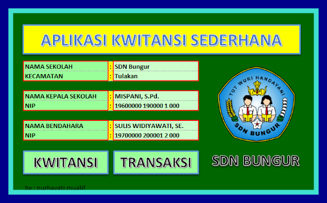 Download Aplikasi Membuat Kwitansi Sederhana BOS 2017