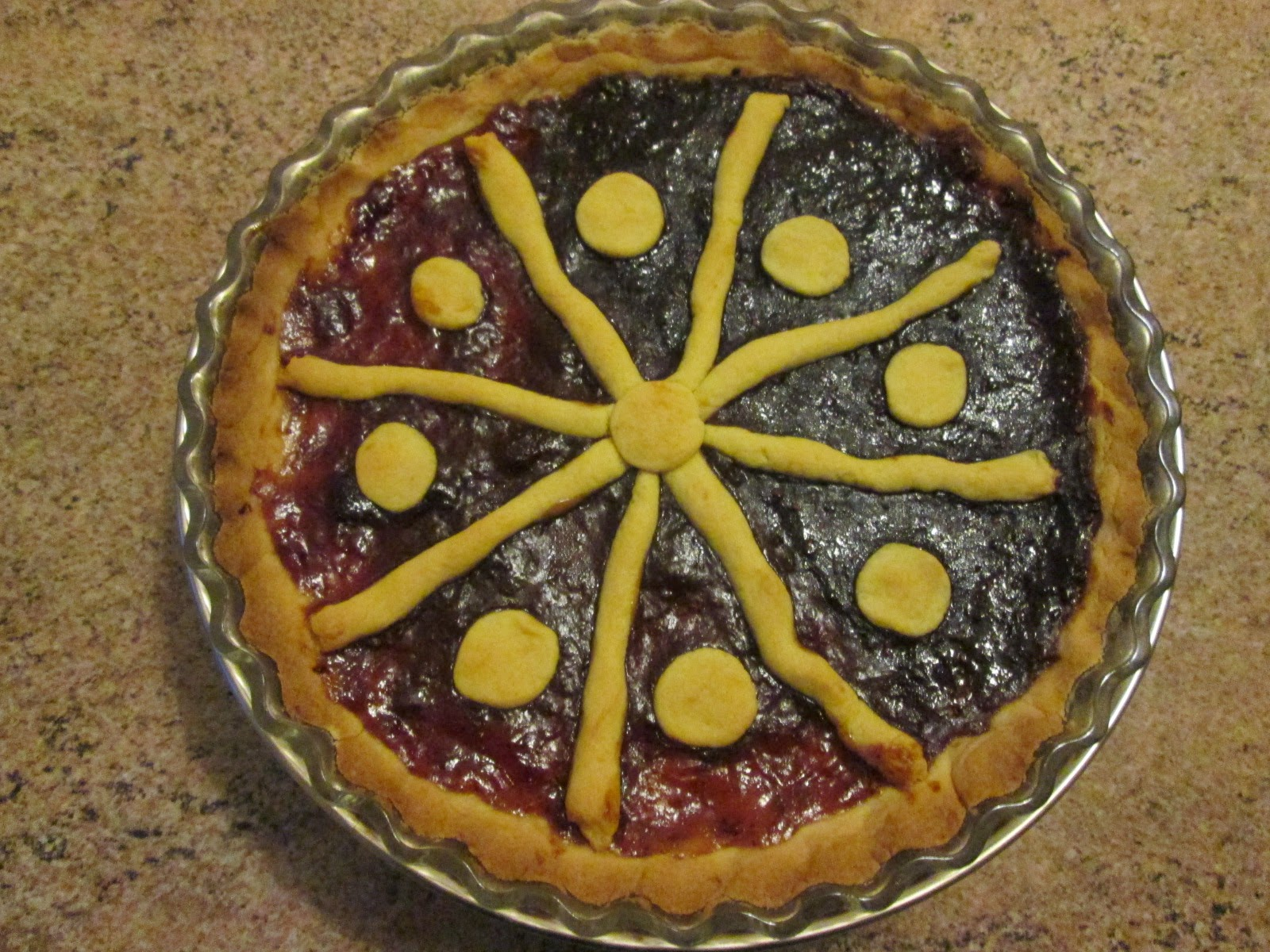 Torta com geleia (Crostata con la marmellata)