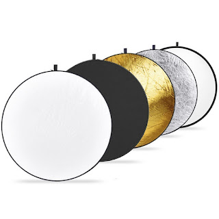 Photography reflectors in five different colours