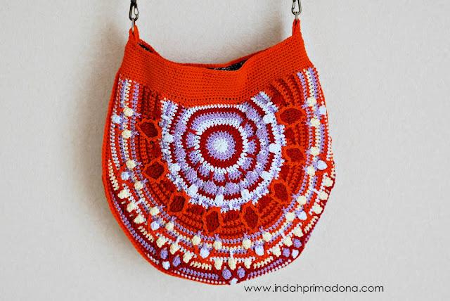 tutorial peacock tail bag, tutorial tas rajut, tas rajut, membuat tas rajut dari awal, membuat tas rajut overlay, teknik overlay crochet, tas crochet, crochet bag, crochet bag tutorial