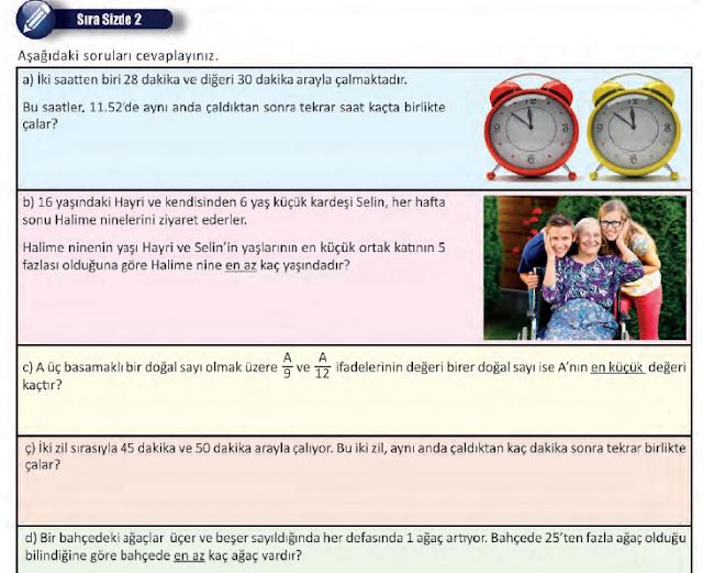 8. Sınıf MEB Yayınları Matematik 17. Sayfa Cevapları 1. Ünite