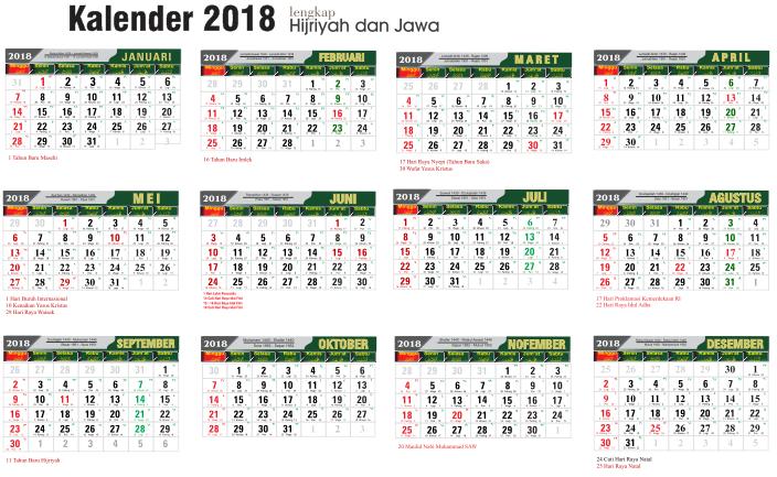 Download Kalender Hijriah 2019 Cdr