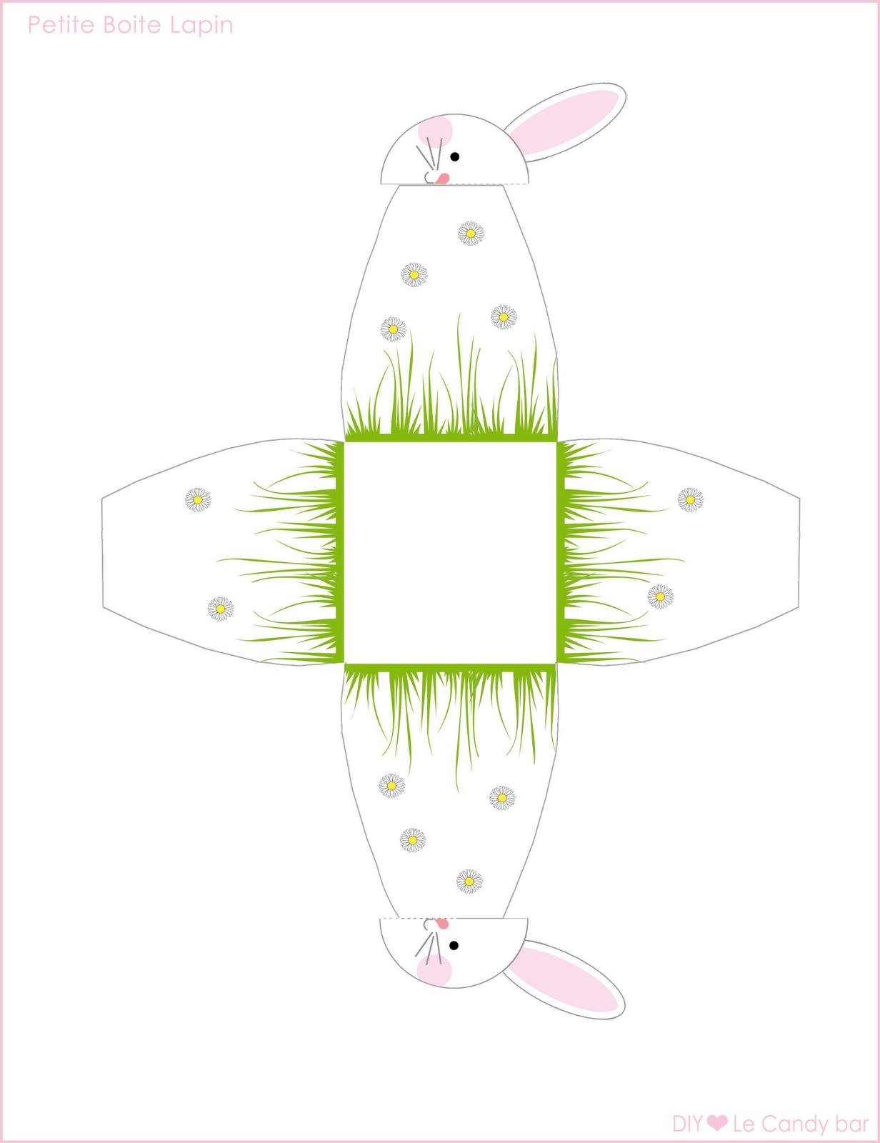 Caja con cierre de cara de conejito para Imprimir Gratis. | Ideas y ...