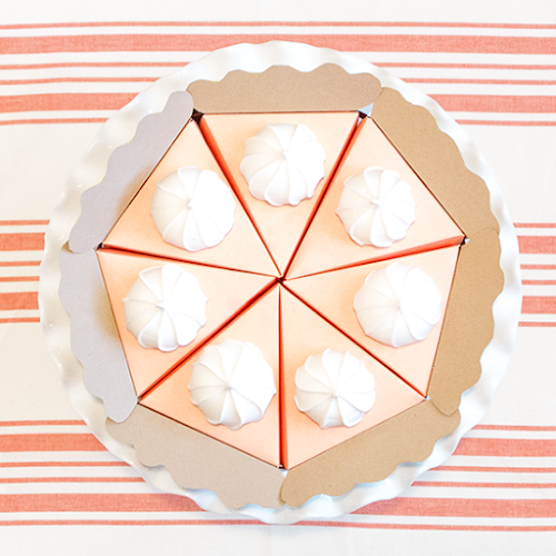 Paper Pumpkin Pie Craft by Love. Luck. Kisses & Cake | LLK-C.com