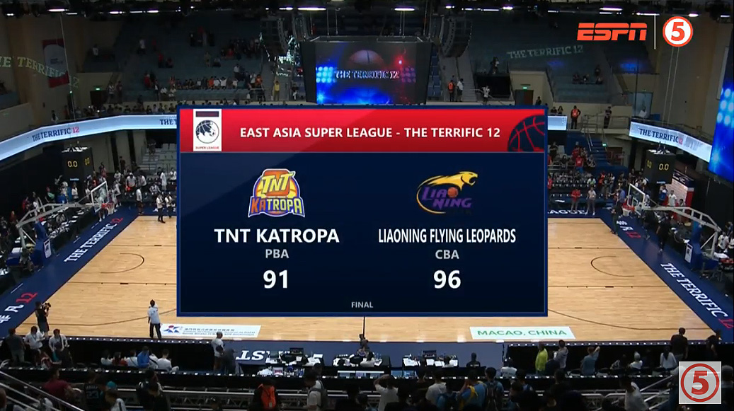 Liaoning Flying Leopards def. TNT KaTropa, 96-91 (REPLAY VIDEO) 2019 Terrific 12