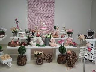 Decoração Festa Fazendinha Rosa