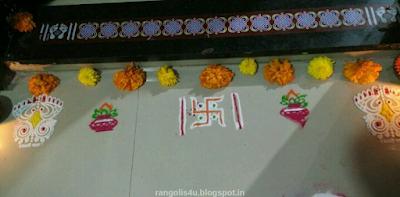 Swastik Rangoli Patterns