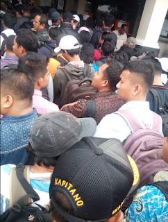 antrian pelaut di PIP Semarang