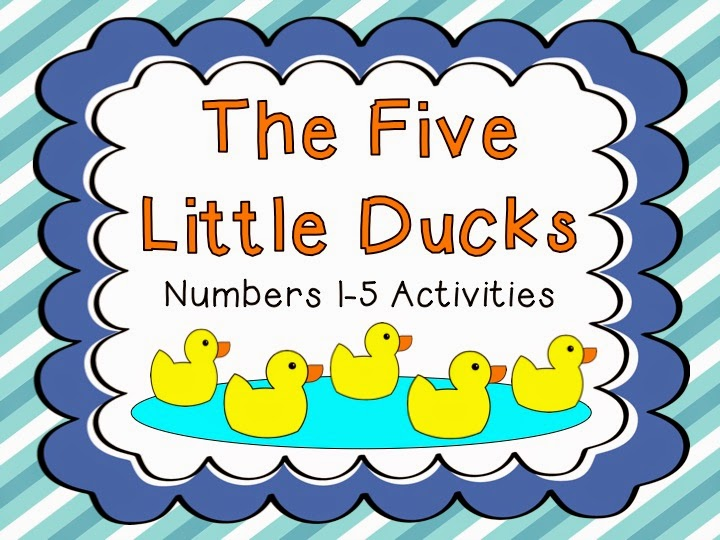 Number 5 with Five Little Ducks