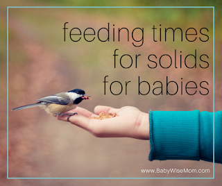 Feeding Times for Solids for Babies