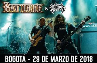 Concierto de Pestilence + Sinister en Bogotá