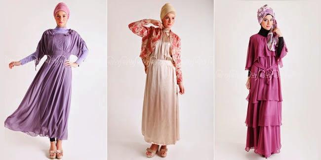 Contoh Baju Muslim wanita untuk ke pesta